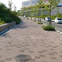 学園南地区歩道:垂水署前交差点(神戸市/グランパムH)