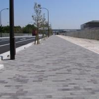 ポートアイランド歩道:新市民病院北側東西(神戸市/アンティックカラー)